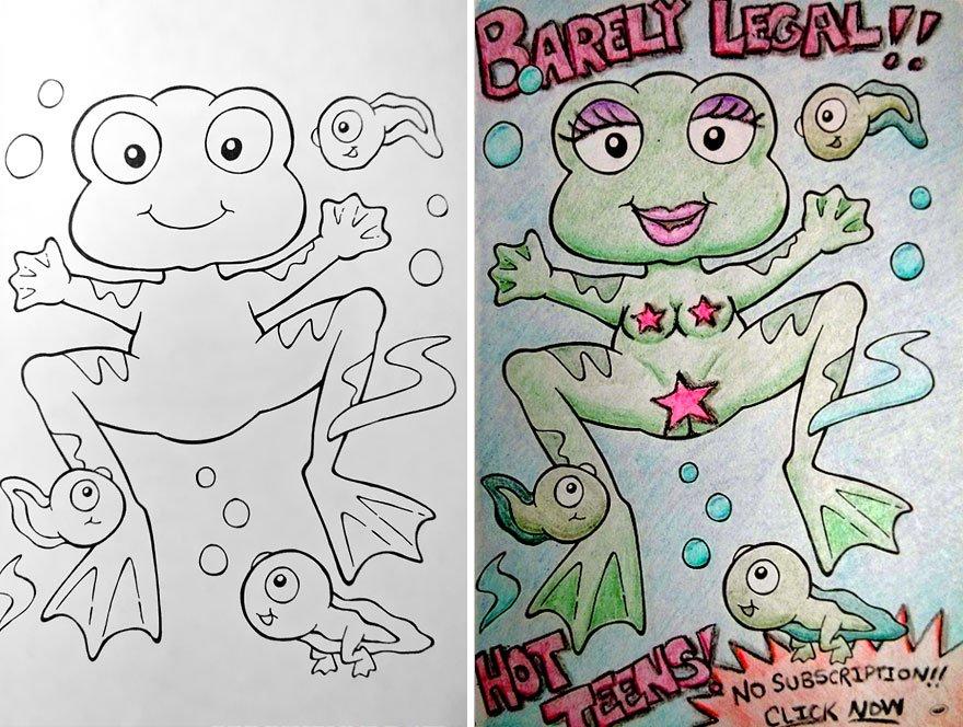 E Se Os Adultos Fossem Colocados Pra Pintar Desenhos Infantis