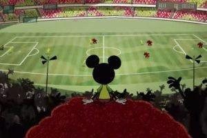Mickey assistindo a Copa