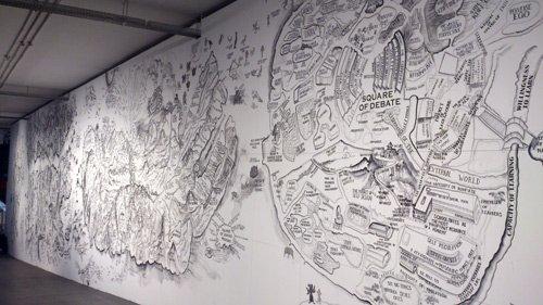 mapa da entrada na Bienal