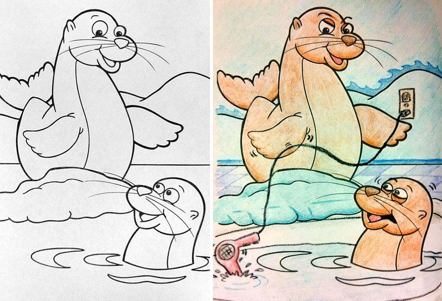 livros infantis pintados por adultos maliciosos (3)