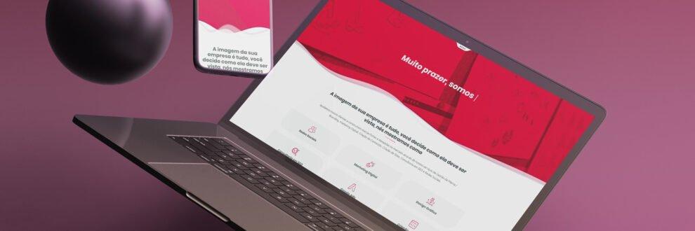 Site Criativito - agência de design gráfico, criação de sites, branding e marketing online