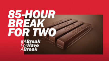Novo slogan Kit Kat campanha 85 anos